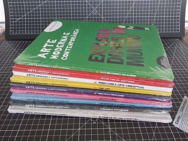 Livros Arte Moderna e contemporânea.  Conjunto com 9 livros Novos.
