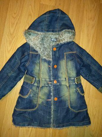 Пальто куртка парка джинсовая