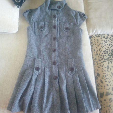 теплое фирменное платье накидка кардиган