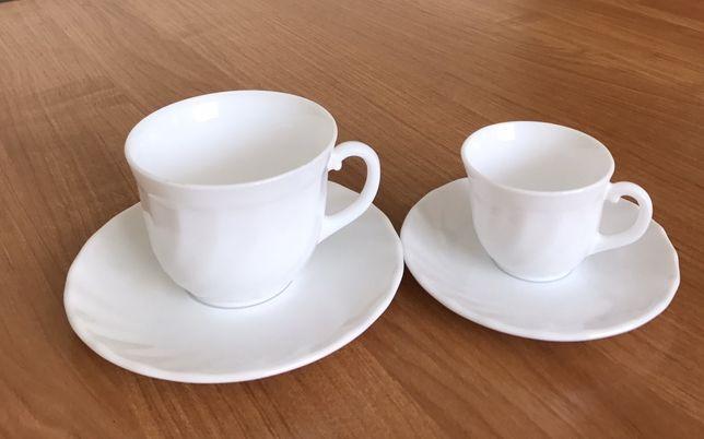 Набор чашек 6шт (200мл)+ 6шт (70мл) с блюдцами