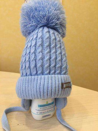 Зимняя шапка на малыша, 40-42 размер, фирмы Barbaras, Польша