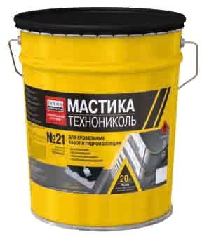 Мастика битумная Техномаст№21 Акция! 20л Рубероид Еврорубероид Праймер