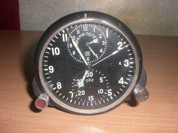 Часы авиационные АЧС-1 М времён СССР,оригинал с пломбами.