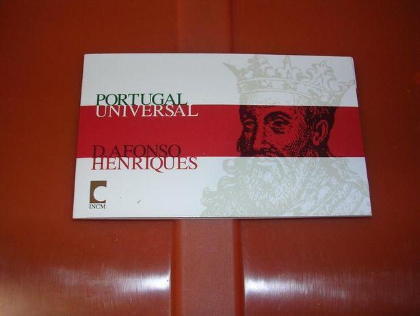 Carteira 1/4euro ouro Portugal Univ. D. Afonso Henriques