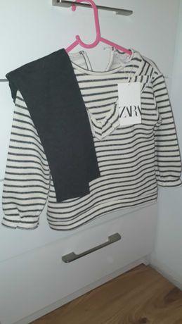 Bluza sweterek zara 104 nowy z metką komplet leginsy coccodrillo