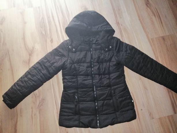 Czarna kurtka zimowa Cool Club + szalik