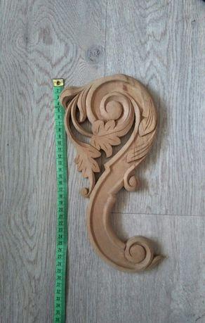 Ornament obraz drewniany liście ozdoba dekoracja