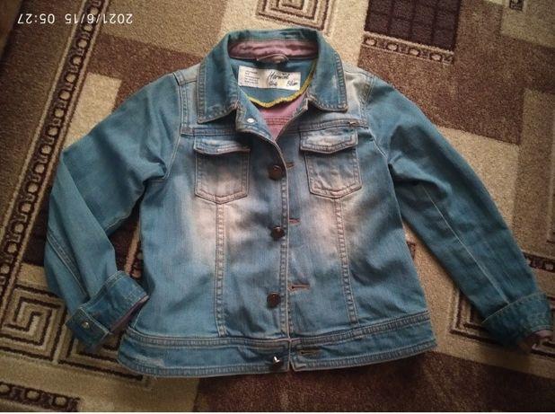 Джинсовая куртка курточка пиджак кофта 3-5 лет
