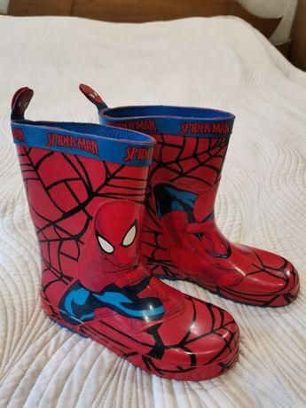 Сапоги резиновые Спайдермен Spider man, стелька 22см