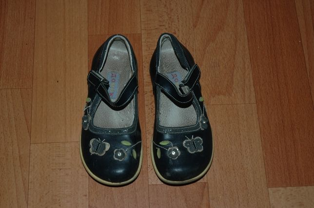 Туфли для девочки на липучке (нат. кожа)