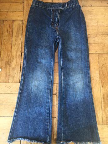 Jeansy na szczupłą dziewczynkę 122/128 dżinsy