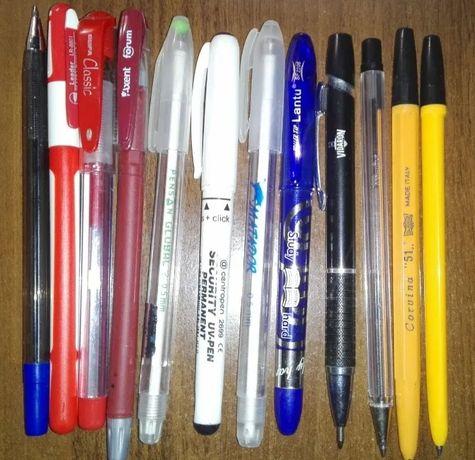 Ручки шариковые, гелевые 12 шт. одним лотом, б/у. ОЧЕНЬ ДЕШЕВО.
