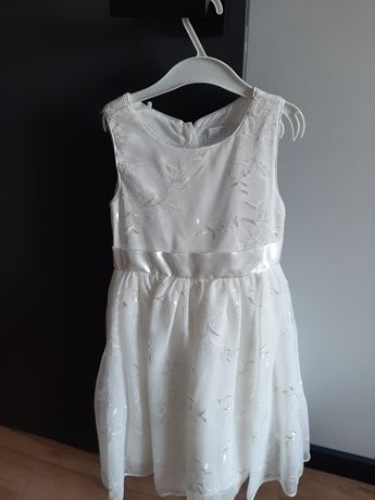 Haftowana,wizytowa,na ślub sukienka ze Smyka rozmiar 122