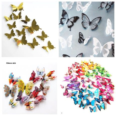 Коллекция Наклейки на стену 3D Бабочка