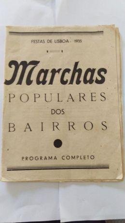 Programa Marchas Populares Lisboa 1935