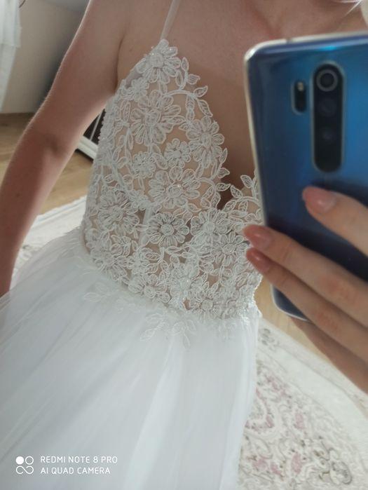 Suknia ślubna urocza biała Laura 38 40 Lublin - image 1