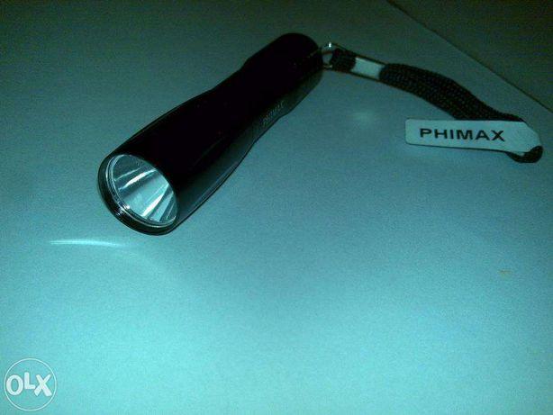 lanterna (phimax) de cor preta - com 9,5cm de comprimento