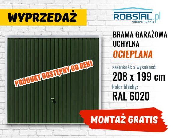 OKAZJA - brama garażowa do muru OCIEPLANA - transport i montaż gratis