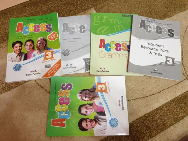 Access 3 Student's Book + Grammar + Teacher's Book + 2 książki testy