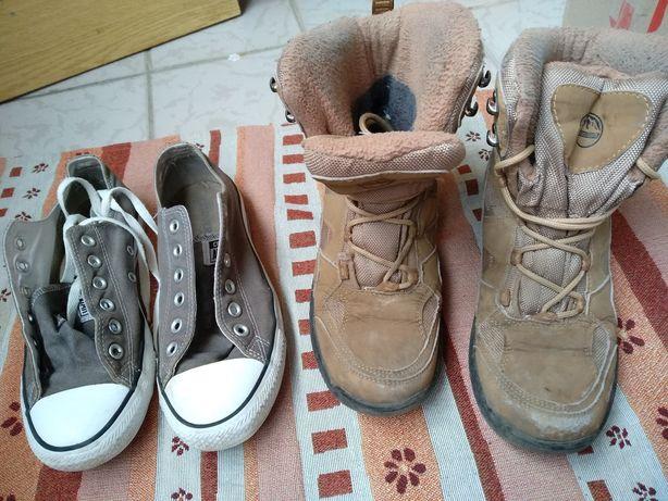 Кеды зимние ботинки 38-39 25 см converse сапоги