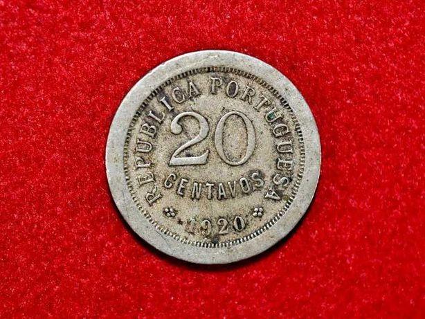 Moeda em cuproníquel de 20 centavos de 1920