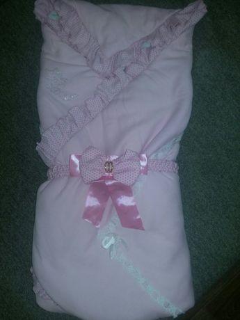 Одеяльце на выписку из роддома для девочки