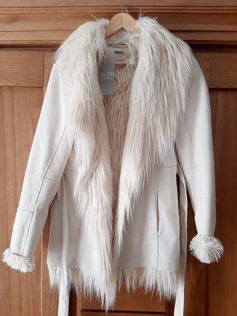 Białe futro kożuch Tuzzi 40/L