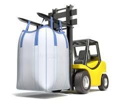 Big Bag 91/91/70 cm z płaskim dnem/lej górny NOWY WOREK
