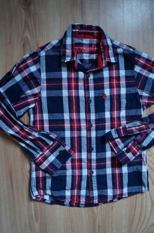 Rebel sliczna koszula krata 128 cm -7/8 lat