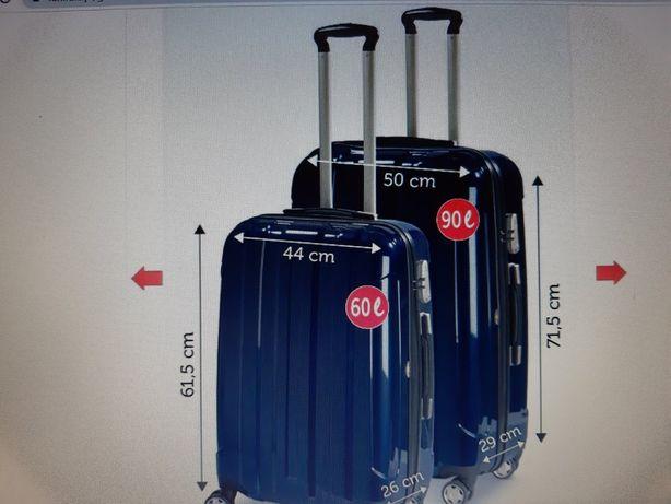 Duża walizka nowa, lekka, mocna,extra - z poliwęglanu , czarna