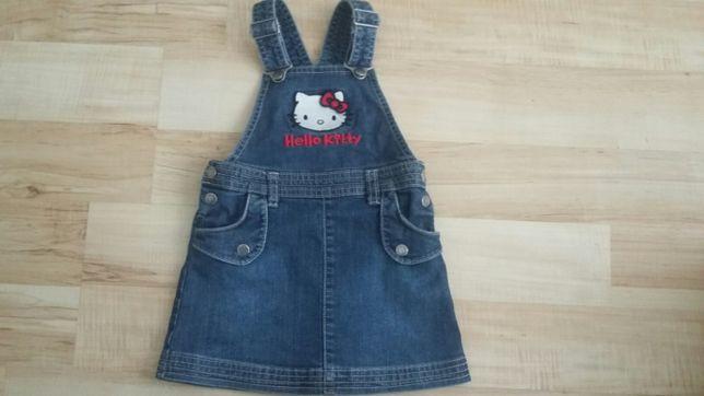 Sukienka jeansowa ogrodniczka H&M rozm. 80-86, 9-18 mies.
