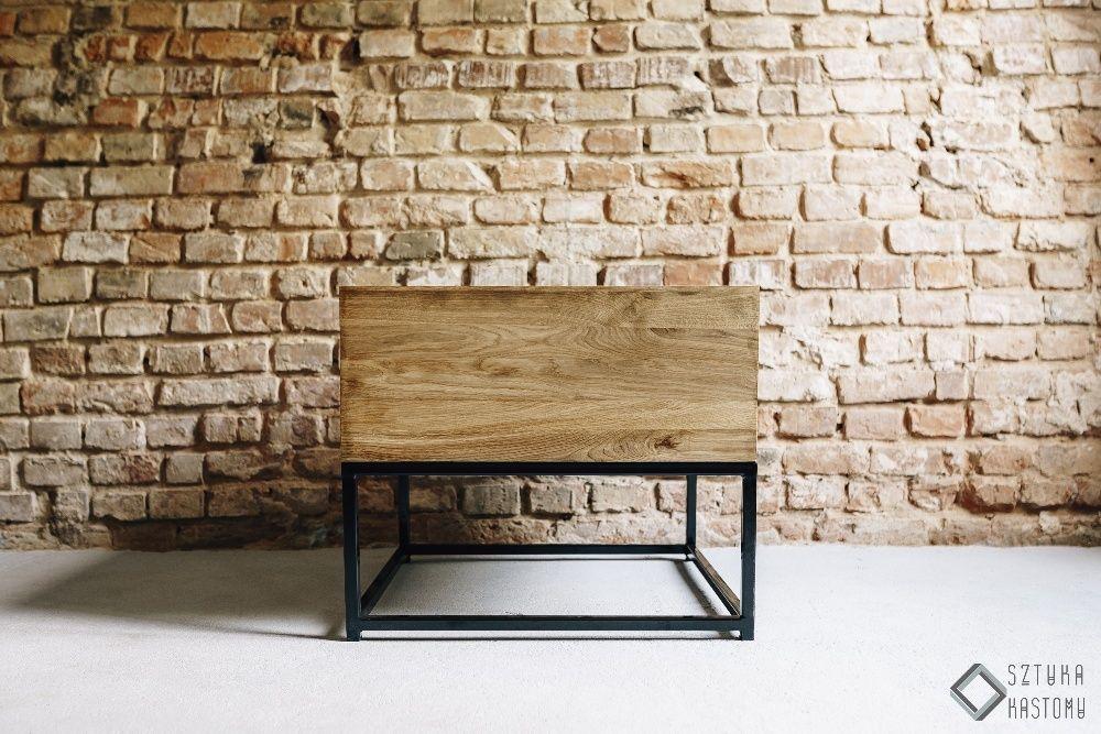 """STOLIK KAWOWY """"MYSZOŁÓW"""" Loft Naturalne Lite Drewno Konstrukcja Stal"""