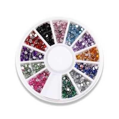 Pedras decorativas para unhas multicoloridas ** Envio Grátis **
