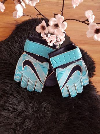 Rękawice bramkarskie JUNIOR NIKE GK błękitne:) roz 6
