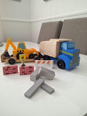 Wywrotka ładowarka Melissa&Doug drewniane zabawki super