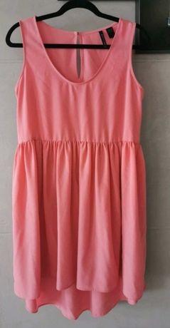 Lejąca sukienka Mango r. M Koralowa