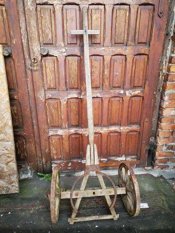 Wóz konny przód drewniane koła OZDOBA