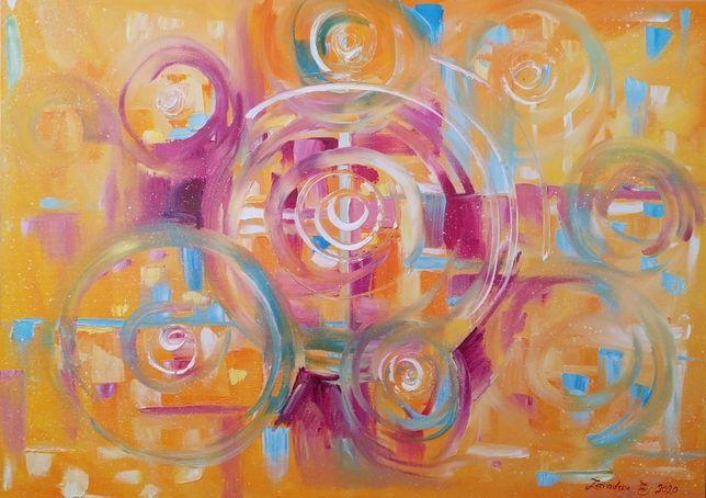 "Картина ""Аn abstract expression of God's love"" холст, масло 50х70 см"