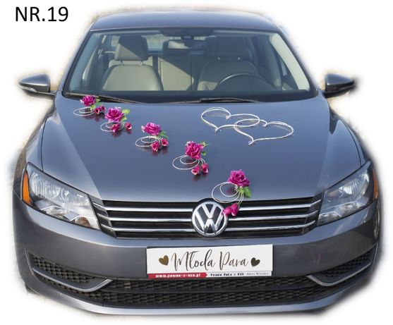 Dekoracja samochodu ozdoba na auto do ślubu NR.19 DOWOLNY KOLOR