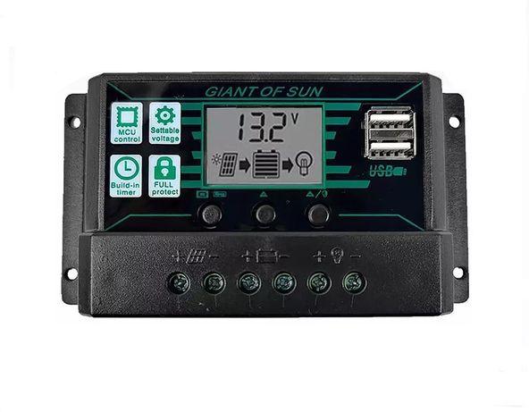 Regulator solarny 12V 30A MPPT/PWM z wyjściem 2 x USB