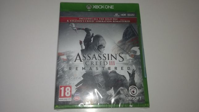 xbox one Assassin's Creed III 3+AC Liberation Remasterd PL