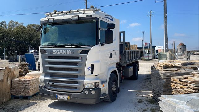 Scania grua bascula
