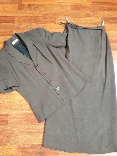 Zestaw garsonka komplet żakiet marynarka spódnica 36 lato krótki rękaw