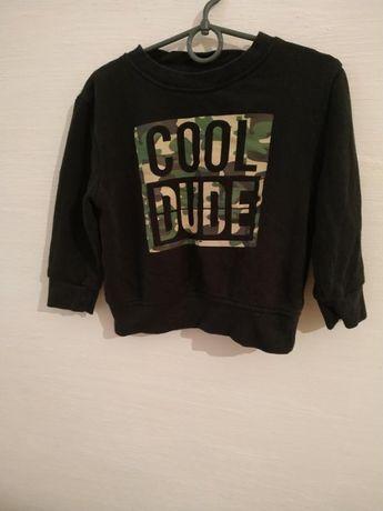 Свитер черный primark камуфляж cool dude 3-4 года 0052