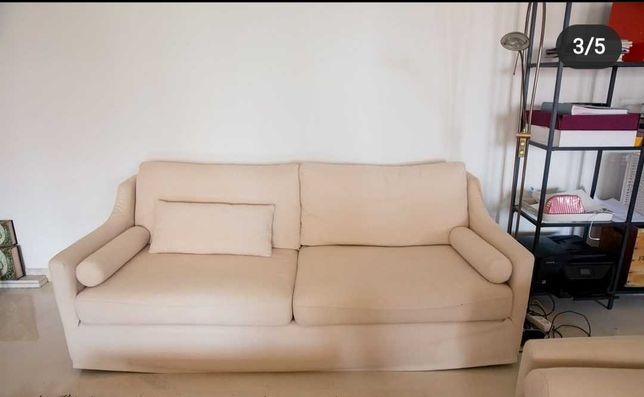Dois Sofa Beige bom estado