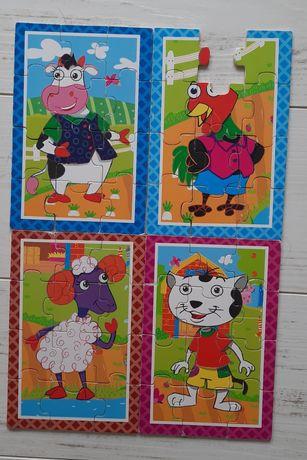 Puzzle 4 szt. zwierzęta