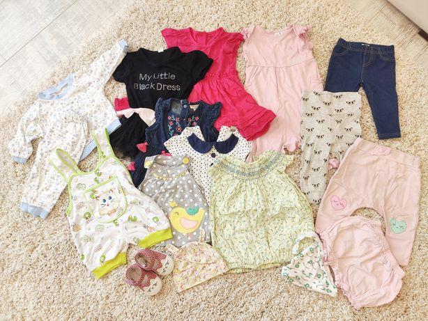 Пакет летних вещей на девочку 3-6 месяцев