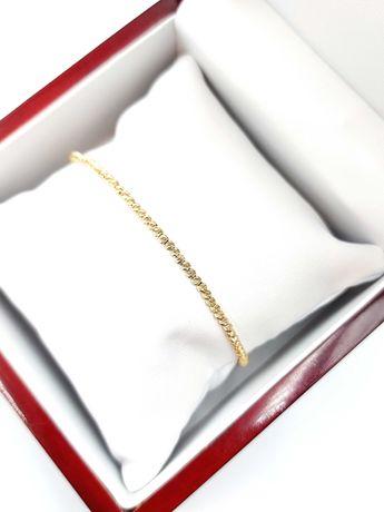Złota bransoletka Pr. 585 Waga: 3,95 G Plus Lombard