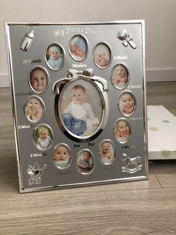 Рамка для фото First Year Frame срібло