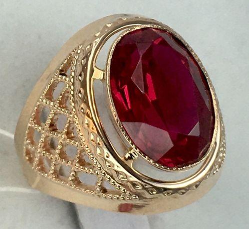 Кольцо золотое рубин 583 проба, советское а1027